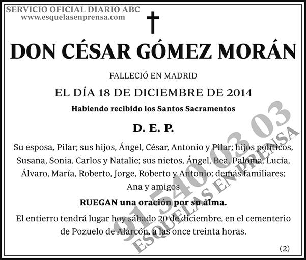 César Gómez Morán